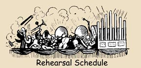 CCCB Rehearsal schedule